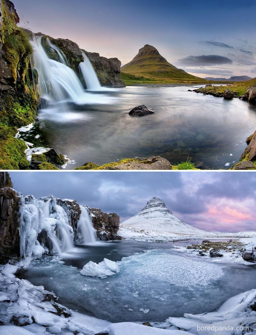 Piscinas de Kirkjufell, Islândia