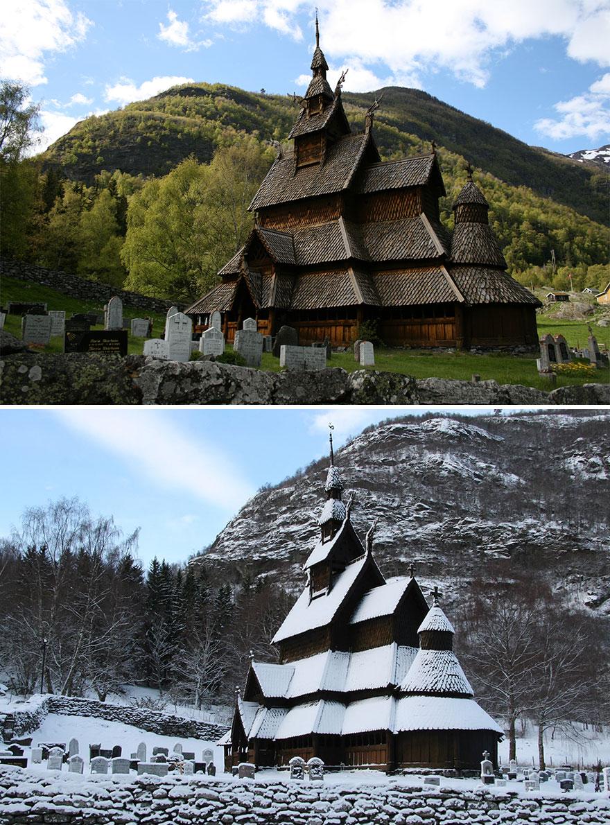 Igreja de madeira de Borgund, Laerdal, Noruega