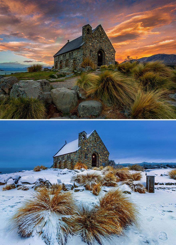 Igreja de O Bom Pastor, Lago Tekapo, Nova Zelândia