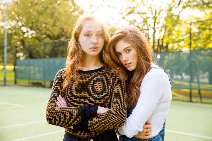 Duas modelos em Melbourne na Austrália