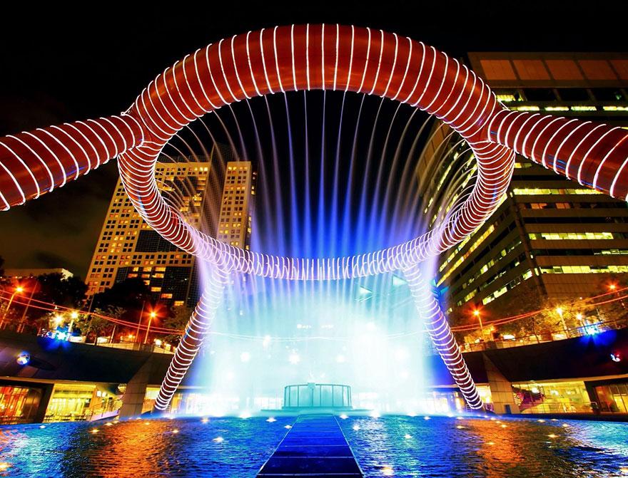 A fonte da Riqueza em Suntec City, em Singapura