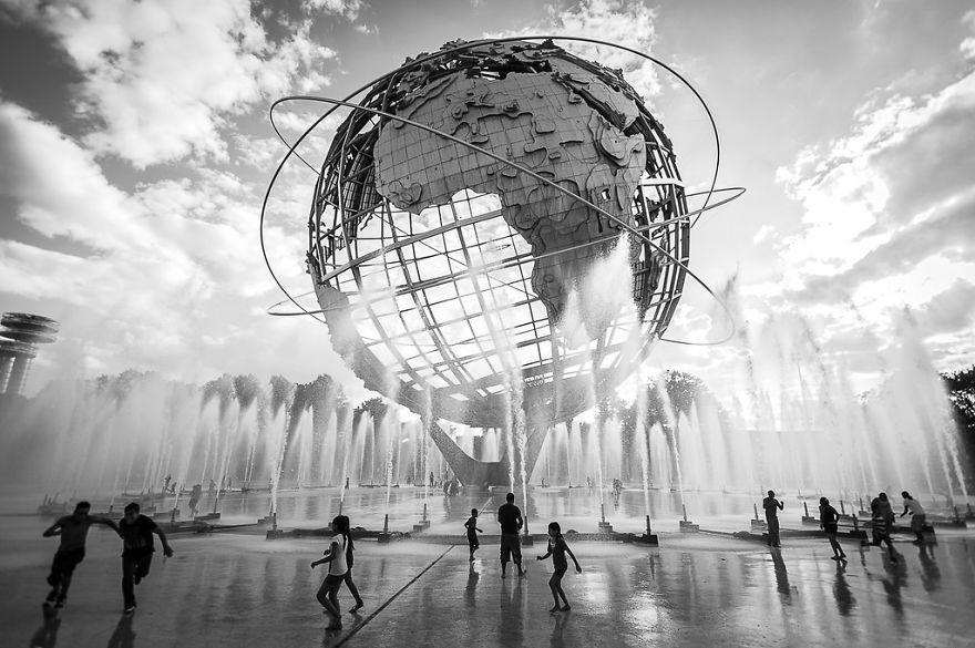 Fonte Unisphere em Nova Iorque, nos EUA