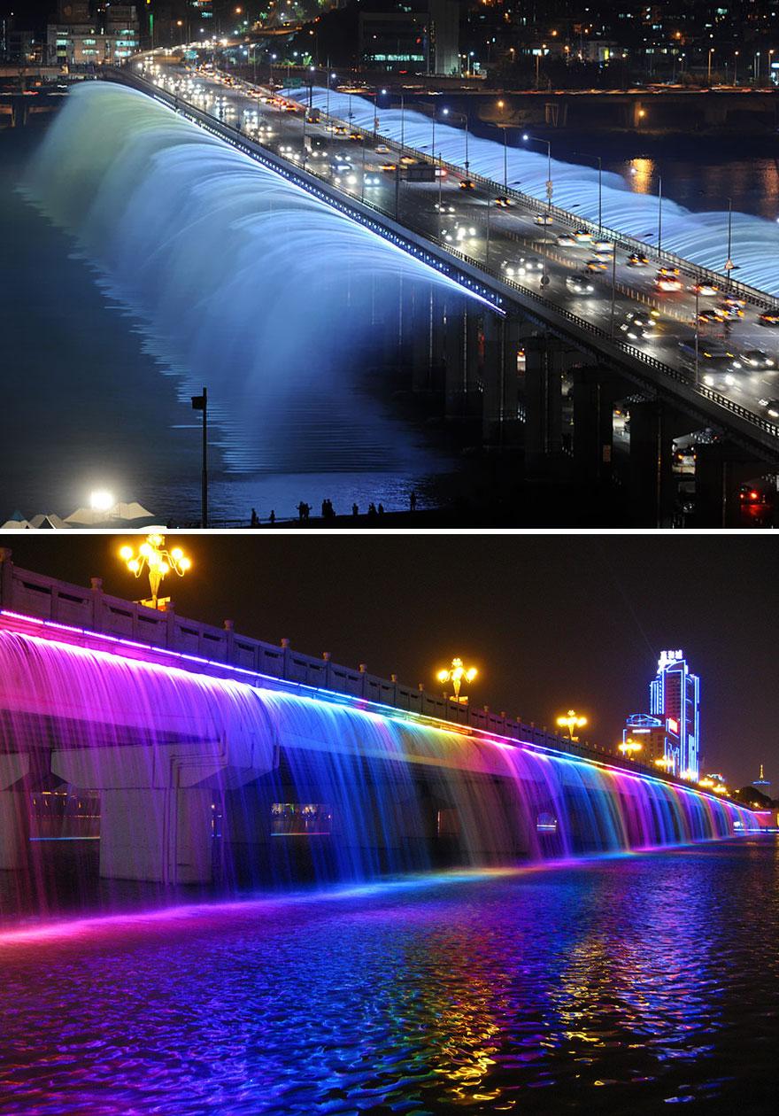Ponte Banpo em Seoul, na Coreia do Sul