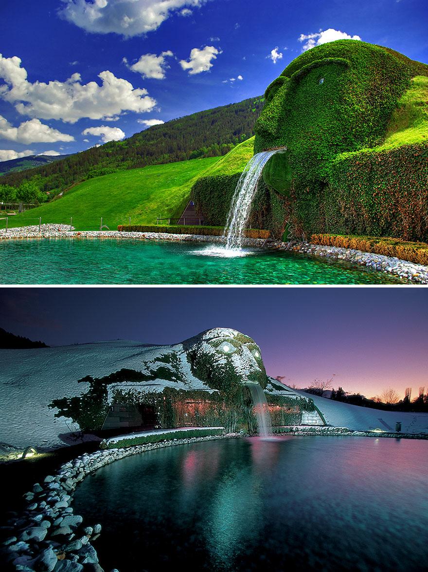 Fonte Swarovski em Wattens, na Austria