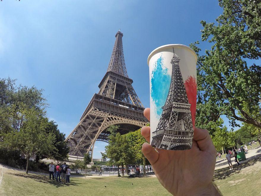 Torre Eiffel em Paris, na França