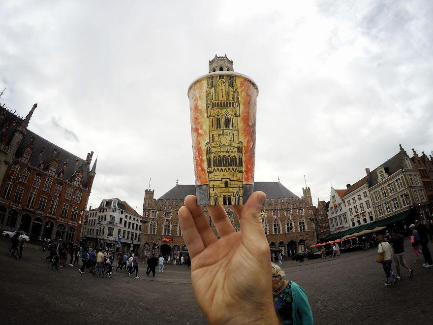 Campanário de Bruges, na Bélgica
