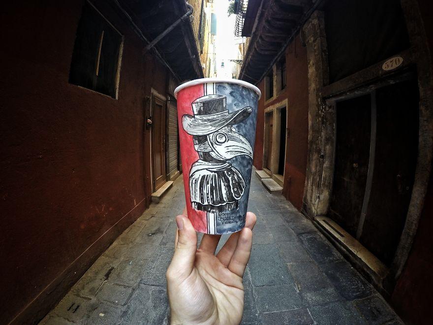 Mascara Doutor Praga, em Veneza, Itália
