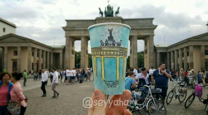 Portão de Brandenburgo, em Berlim, na Alemanha