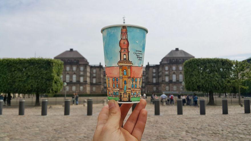 Palácio de Christiansborg, em Copenhague, na Dinamarca
