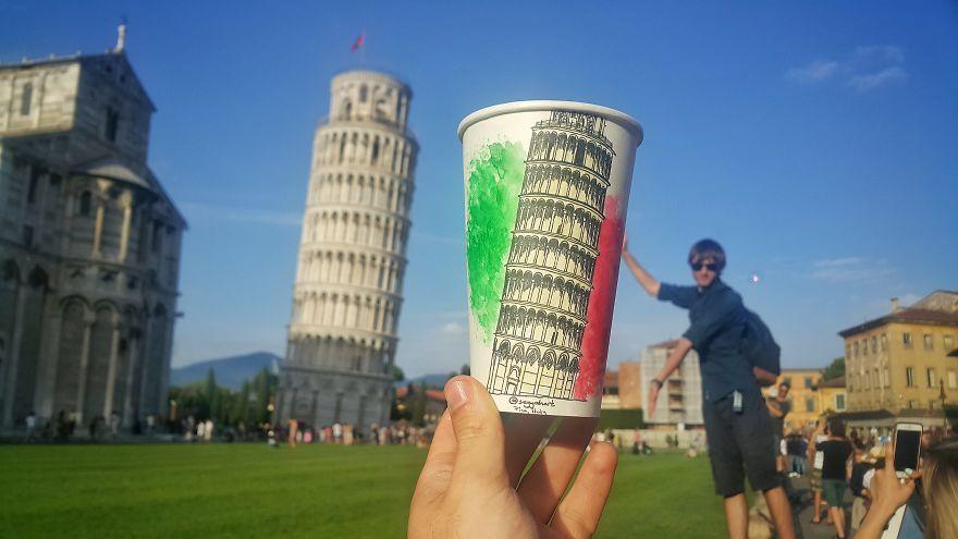 Torre de Pisa, na Itália