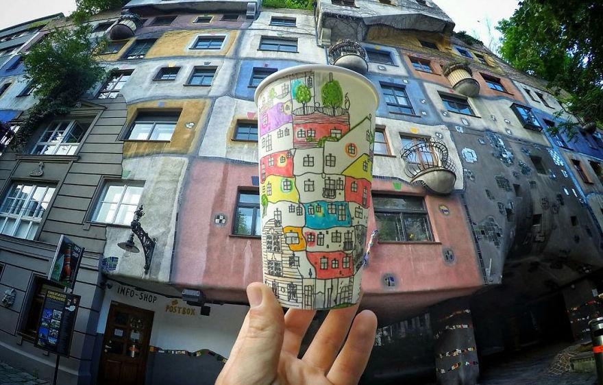 Hundertwasserhaus, em Viena, na Aústria