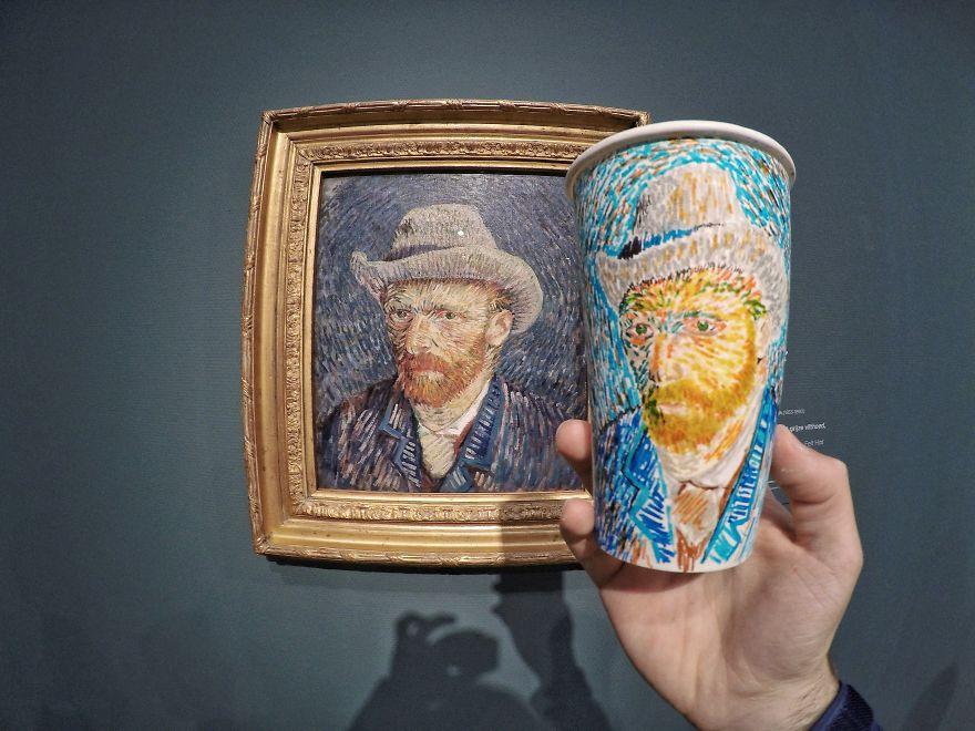 Retrato de Van Gogh, em Amsterdã, na Holanda