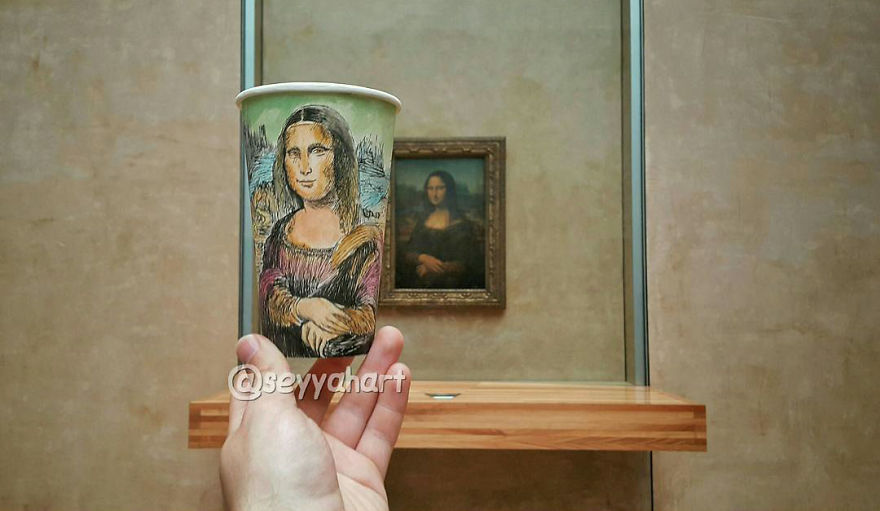 Mona Lisa no Museu do Louvre, em Paris, na França