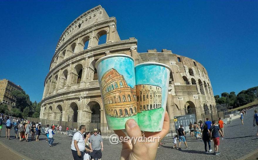 Coliseu em Roma, na Itália